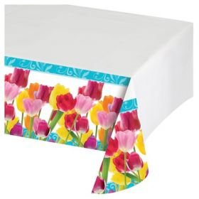 Springtime Party Plastic Tablecover