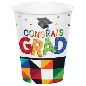 Graduation Party Fractal Fun  Paper Cups pk18