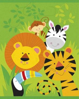 Animal Jungle Party Bags, pk8