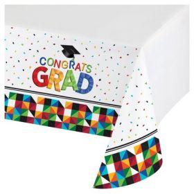 Graduation Party Fractal Fun Plastic Tablecover