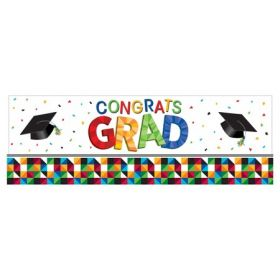 Graduation Party Fractal Fun Giant Party Banner 60''