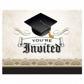 Graduation Cap & Gown Invites pk8