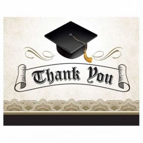 Graduation Cap & Gown Thank You Cards pk8