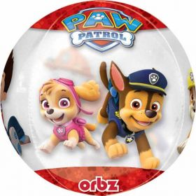 Paw Patrol Chase & Marshall Orbz Clear Foil Balloon 15''