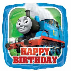 Thomas the Tank Engine Happy Birthday Square Foil Balloon