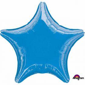 Metallic Blue Star Standard Foil Balloon