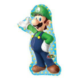 Super Mario Luigi SuperShape Foil Balloon 38''