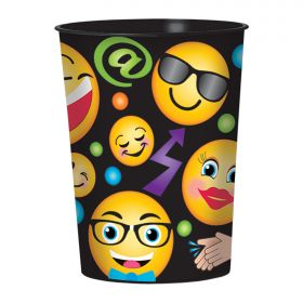 Emoji LOL Plastic Favour Cup 455mls