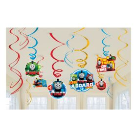 Thomas & Friends Swirl Decorations pk12