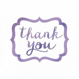 Lilac Thank You Stickers pk50