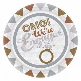 OMG! Engagement Paper Plates pk8