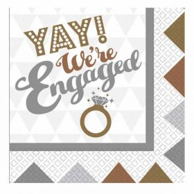 OMG! Engagement Napkins pk16