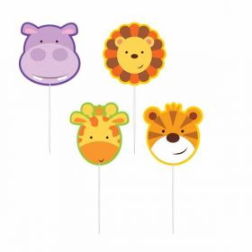 Jungle Friends Pick Candles pk4