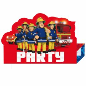 Fireman Sam Stand-up Invitations pk8