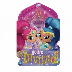 Shimmer & Shine Postcard Invitations pk8