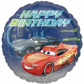 Cars 3 Happy Birthday Standard Foil Balloon