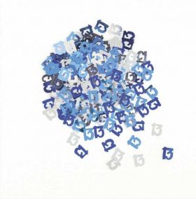 Blue Glitz 13 Party Confetti