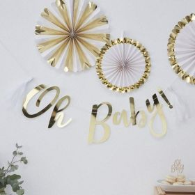 Oh Baby! - Backdrop - Oh Baby! - Gold Foiled