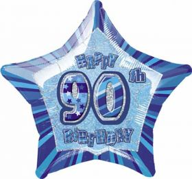 Blue Glitz Star 90 Foil Party Balloon