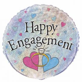 Happy Engagement Prismatic Balloon