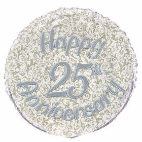 25th Anniversary Prismatic Foil Balloon