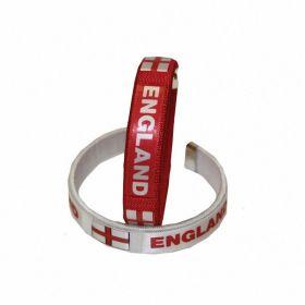 England Day Fabric Bracelets Pk2