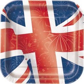 8 Best Of British 9'' Square Plates