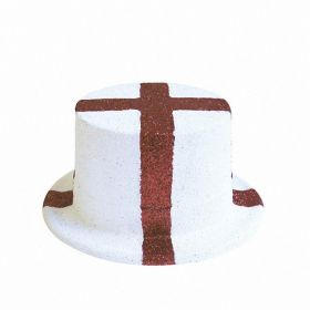 England Glitter Top Hat