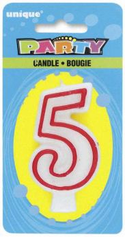 Red & White Party Candle 5