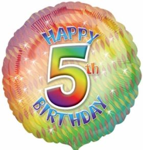 Happy 5th Birthday Circle Foil Balloon