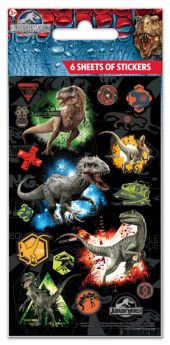 Jurassic World Sticker Sheets pk6