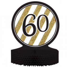 Black & Gold Age 60 Centrepiece