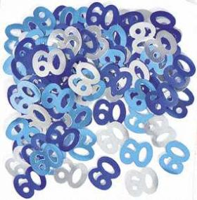Blue Glitz 60 Party Confetti