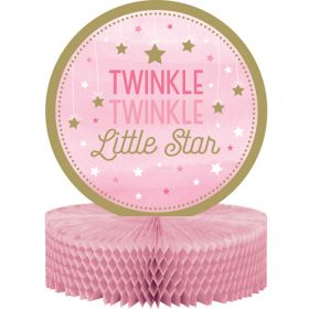 One Little Star - Girl Honeycomb Table Centrepiece