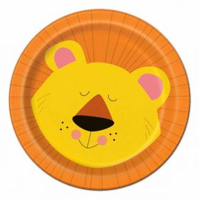 "Animal Jungle Plates pk8 7"""