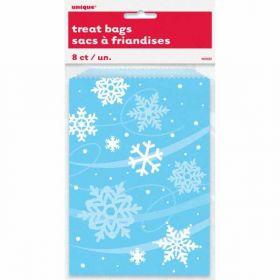 Snowflake Paper Treat Bags pk8