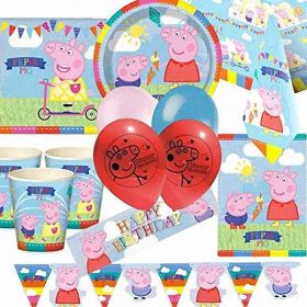 Peppa Pig Deluxe Party Supplies Kit for 16