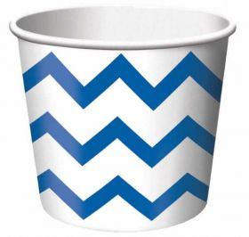 Chevron Stripe Treat Cups True Blue pk6