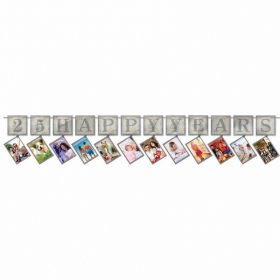 Sparkling Silver Anniversary Prismatic Photo Garlands