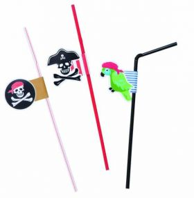 Pirate Straws pk6