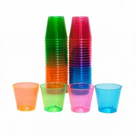 Plastic Shot Glasses pk50