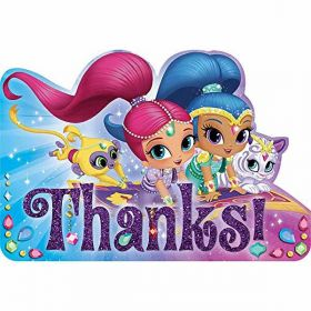 Shimmer & Shine Thank You Cards pk8