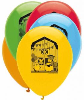 Farmhouse Fun Latex Balloons pk6