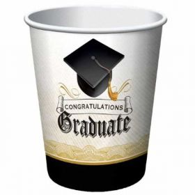 Graduation Cap & Gown Paper Cups pk8