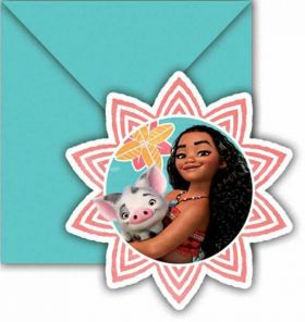 Moana Party Invitations pk6