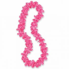 Hot Pink Flower Lei 40""