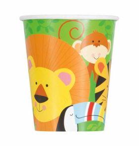 Animal Jungle Cups pk8