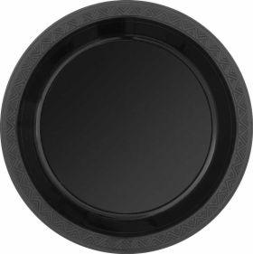 Midnight Black Plastic Plates pk8