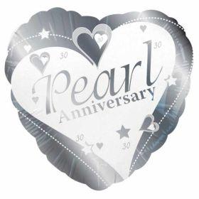 Pearl Anniversary Foil Balloon