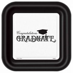 Simply Graduation Square Plates pk8